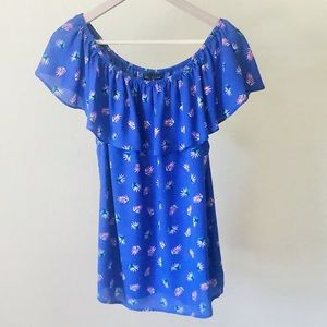 Simply Styled by Sears Blue Flounce Top